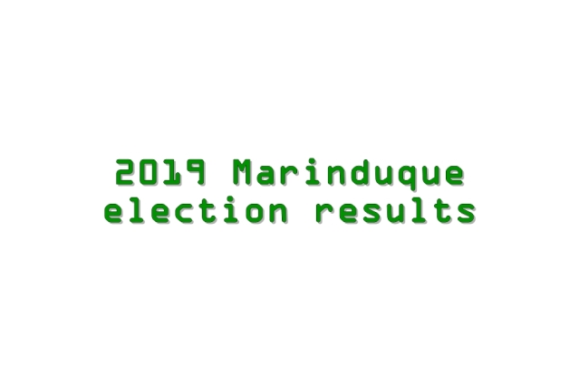 2019 Marinduque election results