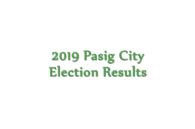 2019 Pasig City election results