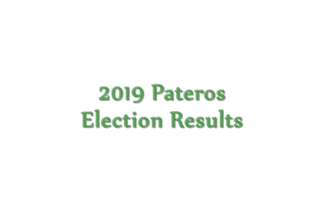 2019 Pateros election results