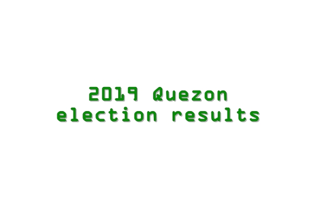 2019 Quezon election results