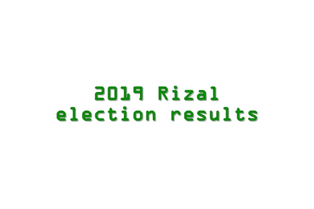 2019 Rizal election results