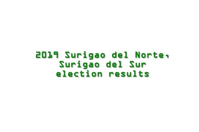 2019 Surigao del Norte, Surigao del Sur election results