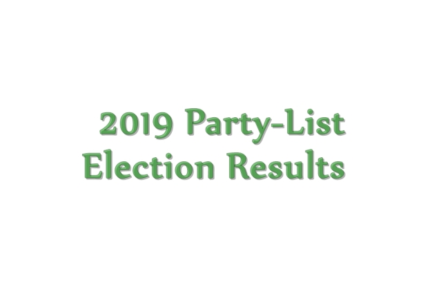 2019 Philippine party-list election results