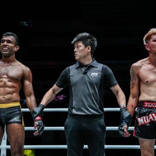 Rahul Raju, Kemp Cheng, Richard Corminal (© ONE Championship)