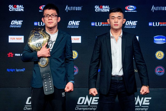 Shinya Aoki, Christian Lee (© ONE Championship)