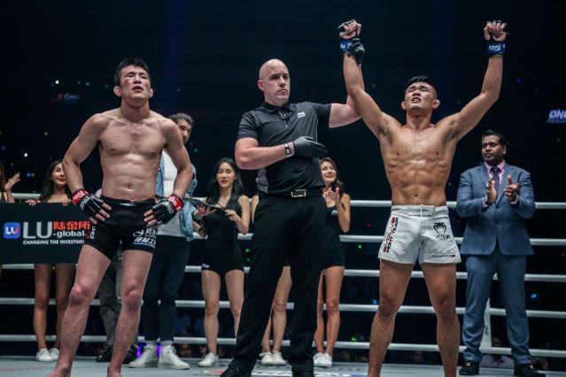 Shinya Aoki, Olivier Coste, Christian Lee (© ONE Championship)