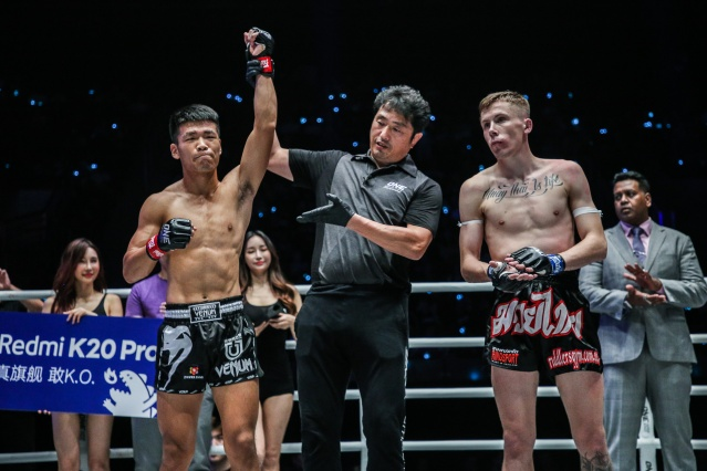 Zhang Chenglong, Atsushi Onari, Tyler Hardcastle (© ONE Championship)
