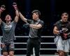 Niu Kang Kang, Kemp Cheng, Eric Kelly (© ONE Championship)