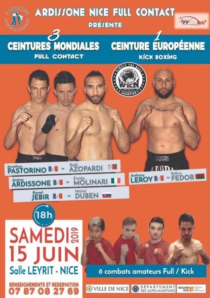 'Ardissone Nice Full-Contact' fight card