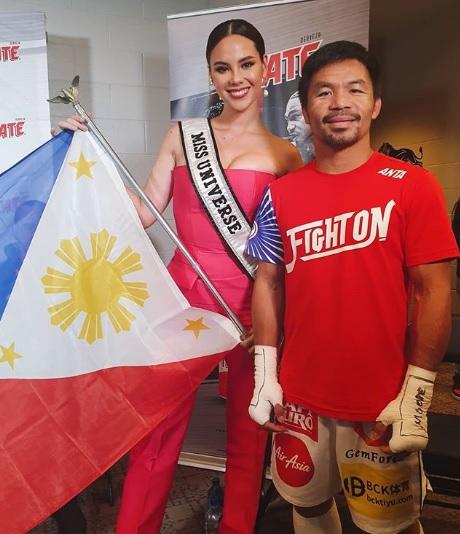 Catriona Gray, Manny Pacquiao