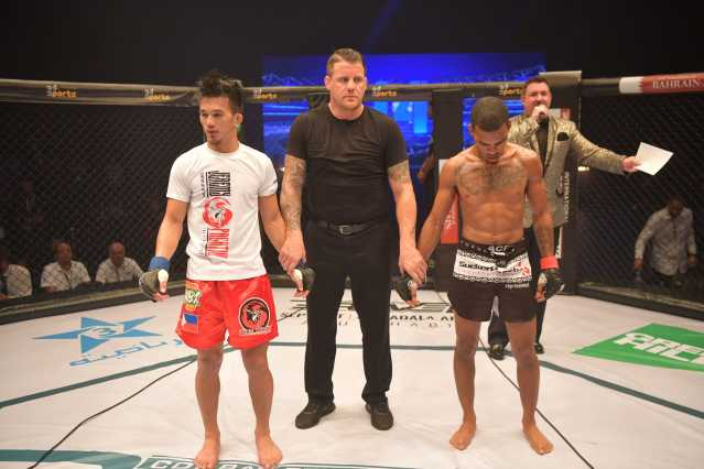 Jeremy Pacatiw, Marc Goddard, Keith Lee (©Brave Combat Federation)