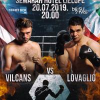 Latvia vs Italy: Ralfs Vilcans decisions Maurizio Lovaglio at 'LNK Fight Night 12' in Jurmala