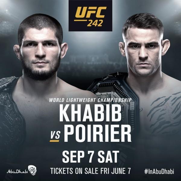 'UFC 242' poster