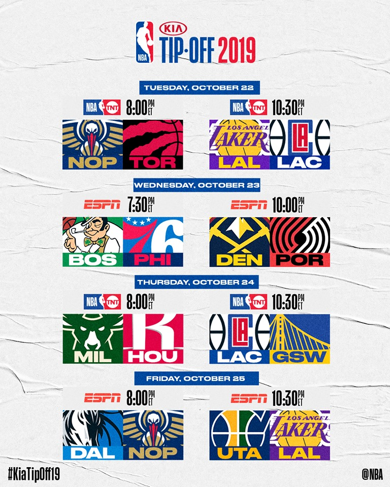 Nba Playoffs 2020 Schedule.2019 2020 Nba Season Results List Of Games Venues In