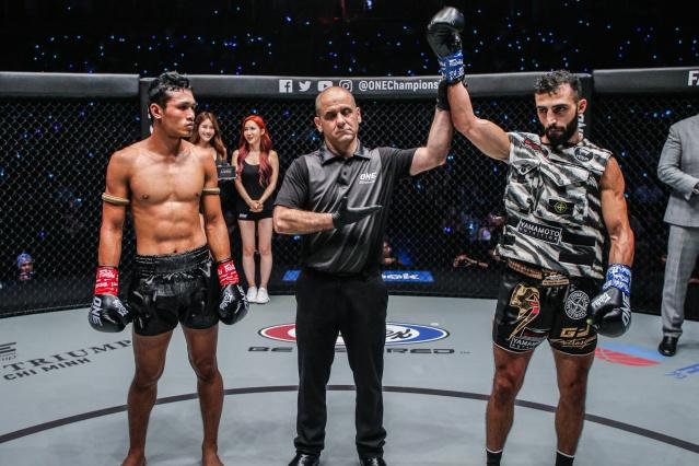 Jo Nattawut, Elias Dolaptsis, Giorgio Petrosyan (©ONE Championship)
