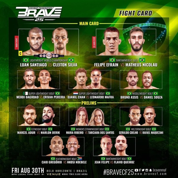 'Brave 25' fight card