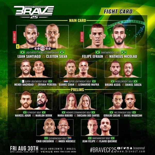 'Brave 25' fight card