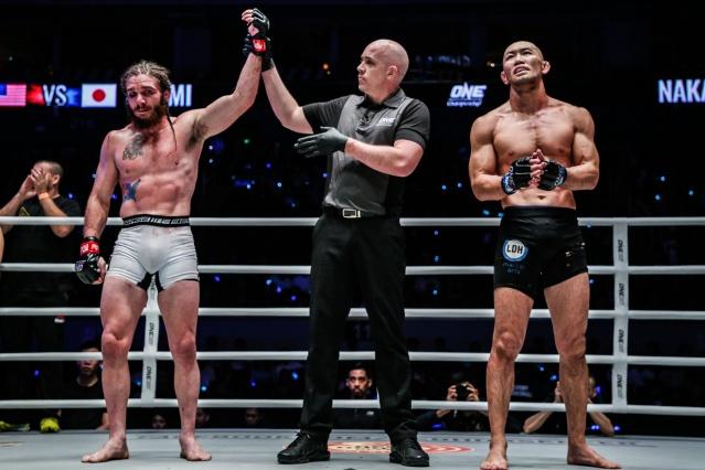 James Nakashima, Olivier Coste, Yushin Okami (© ONE Championship)