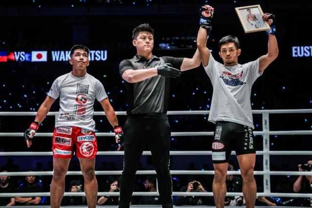Geje Eustaquio, Kemp Cheng, Yuya Wakamatsu (© ONE Championship)
