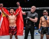 Zhao Zhi Kang, Olivier Coste, Paul Lumihi (©ONE Championship)
