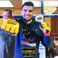 Pakistan's Furqan Cheema beats Andy Connor at 'Combat Challenge 24' in Bradford, West Yorkshire, England