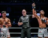 Sunoto, Olivier Coste, Muhammad Aiman (© ONE Championship)