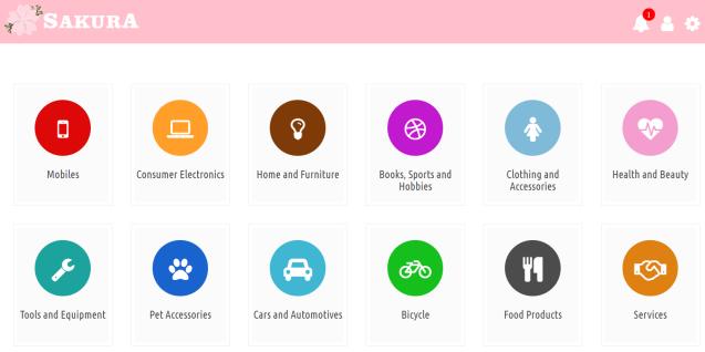 Sakura Free Market app
