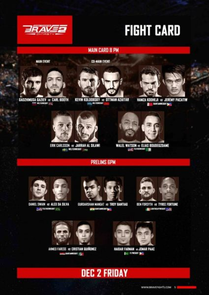 'Brave 2: Dynasty' fight card