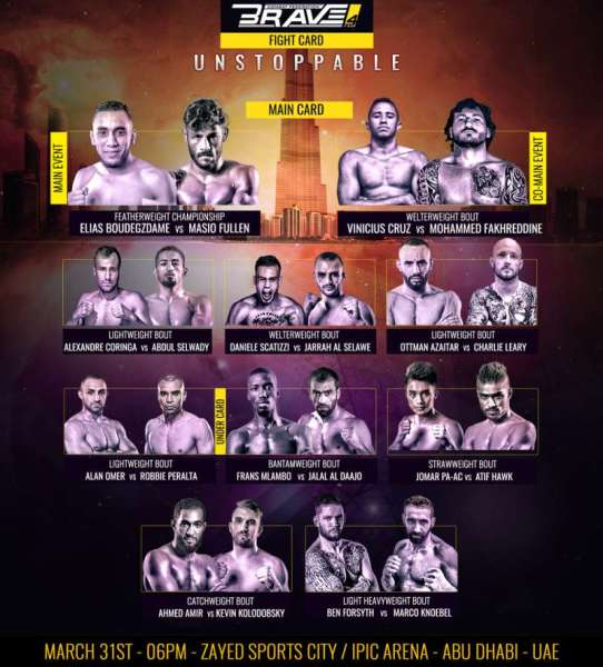 'Brave 4: Unstoppable' fight card