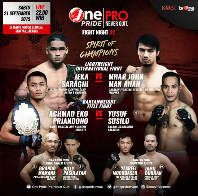 'One Pride MMA Fight Night 32: Spirit of Champion' poster