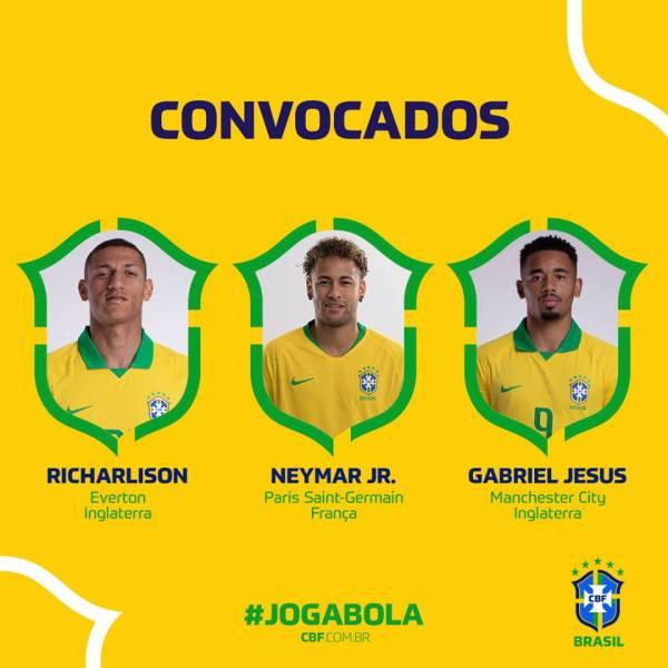 Richarlison, Neymar Jr, Gabriel Jesus