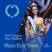 Harvard student Vanessa Mae-Walters crowned Miss Teen Eco Philippines 2019 by Sunshine Cruz