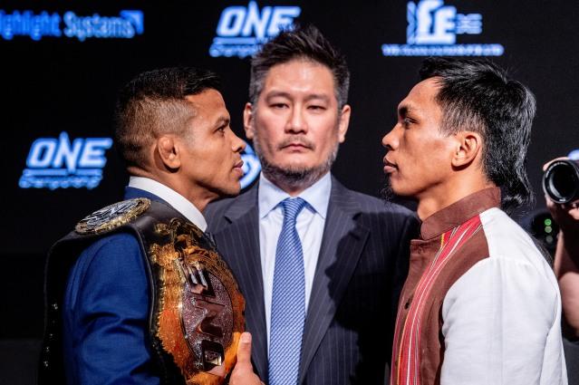 Bibiano Fernandes, Chatri Sityodtong, Kevin Belingon (©ONE Championship)
