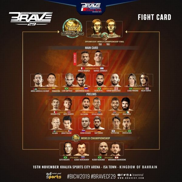 'BRAVE CF 29' fight card