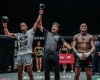 Regian Eersel, Atsushi Onari, Nieky Holzken (©ONE Championship)