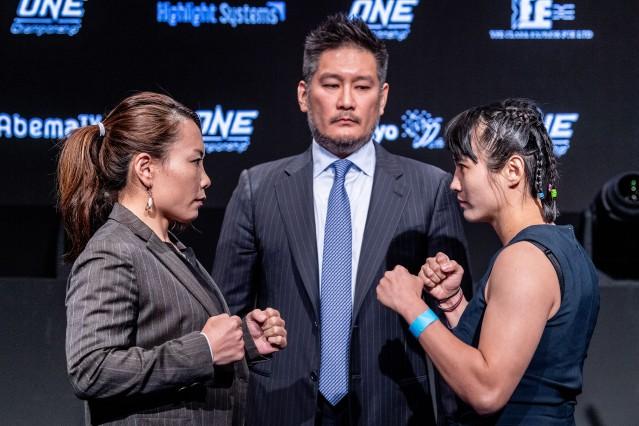 Mei Yamaguchi, Chatri Sityodtong, Jenny Huang (© ONE Championship)