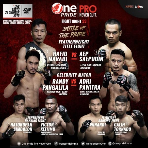One Pride MMA Fight Night 33