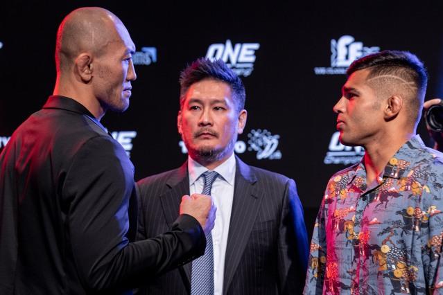 Yushi Okami, Chatri Sityodtong, Agilan Thani (© ONE Championship)