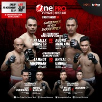 'One Pride MMA Fight Night 34' results: Natalex Munster vs Agung Maulana, Lamhot Tambunan vs Rhizal Umboh in Jakarta, Indonesia