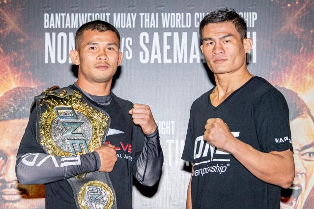 Nong-O Gaiyanghadao, Saemapetch Fairtex (©ONE Championship)