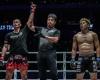 Tukkatatong Petpayathai, Atsushi Onari, Hiroaki Suzuki (©ONE Championship)