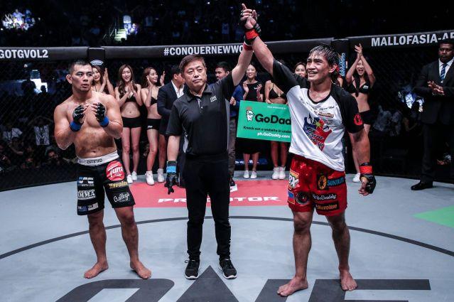Ev Ting, Yuji Shimada, Eduard Folayang (©ONE Championship)