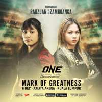 Philippines' Denice Zamboanga earns 1st ONE Championship win, beats Jihin Radzuan at 'ONE: Mark of Greatness' in Malaysia