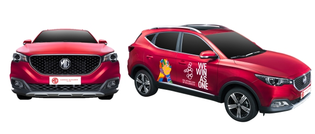 MG ZS with SEA Games decals