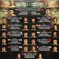 'ONE: Mark of Greatness' weight hydration results: Sam-A Gaiyanghadao vs Wang Junguang, Alaverdi Ramazanov vs Zhang Chenglong in Malaysia