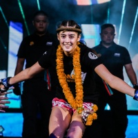 Australia's Alma Juniku vs Norway's Anne Line Hogstad at 'ONE: Fire and Fury' in Manila, Philippines