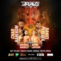 'BRAVE CF 31' results: Chad Hanekom vs Daniel Souza Pereira, Dansheel Moodley vs Anton Larsson in Durban, South Africa
