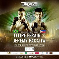 Team Lakay's Jeremy Pacatiw to face Felipe Efrain at 'BRAVE CF 33' in Jeddah, Saudi Arabia