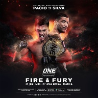 Team Lakay's Joshua Pacio vs Evolve MMA's Alex Silva at 'ONE: Fire and Fury' in Manila, Philippines