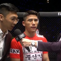 Team Stungun's Yoon Chang Min calls out Team Lakay's Edward Kelly after 'ONE: Mark of Greatness' win in Kuala Lumpur, Malaysia